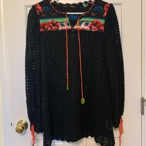 Free People vintage knit tunic